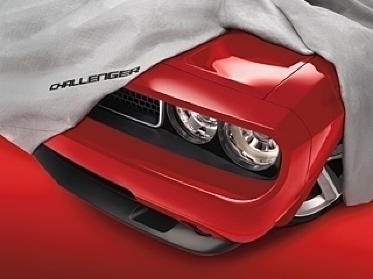 Genuine Mopar Car Cover Gray W Challenger Logo Part No