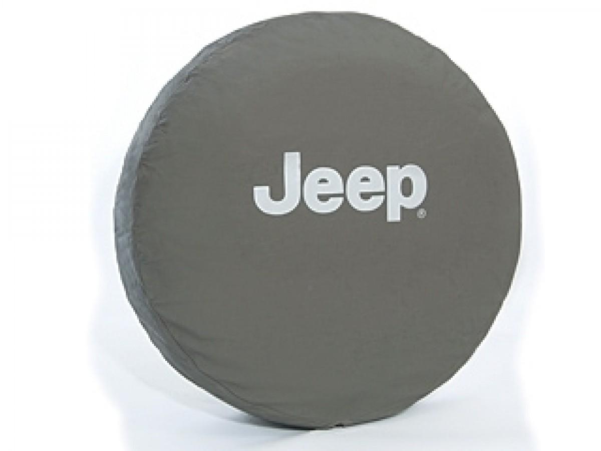 2014 Jeep Patriot Tire Size >> Genuine Jeep Spare Tire Cover Cloth Khaki W/ Silver Jeep Logo - 82209958ab | JeepsAreUs
